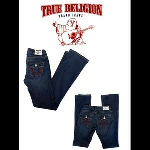 True religion high-rise boot cut jeans size 25